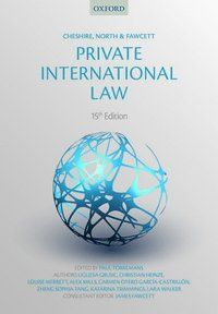 Cheshire, North & Fawcett Private International Law