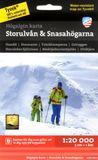 Högalpin karta Storulvån & Snasahögarna 1:20.000